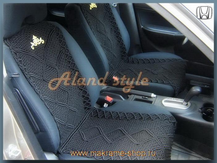 Заказать плетеные накидки на кожаные сиденья автомобиля