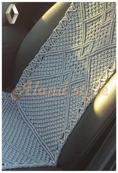 Оригинальный подарок - серые плетеные накидки