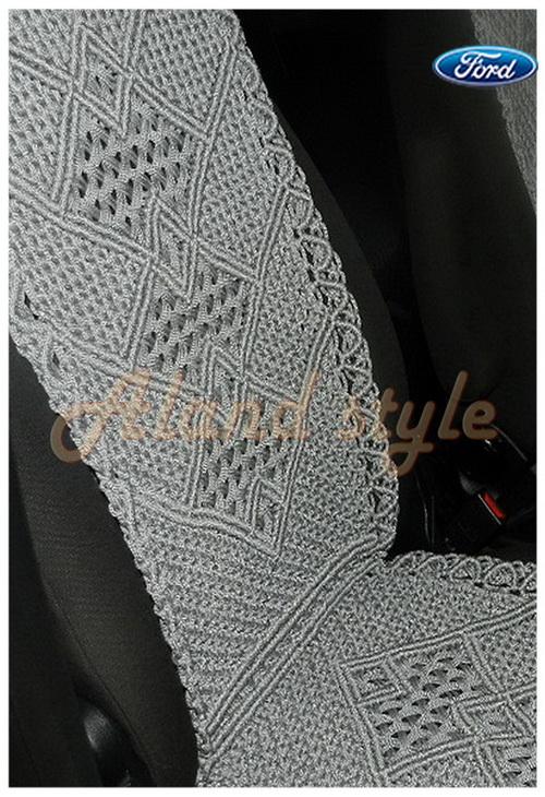 Оригинальный подарок водителю - плетеные накидки серого цвета