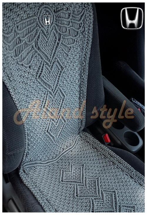 Оригинальный подарок водителю - серые плетеные накидки