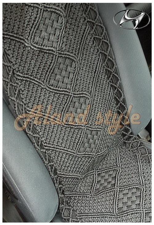 Оригинальный подарок водителю - плетеные накидки цвета 'мокрый асфальт'