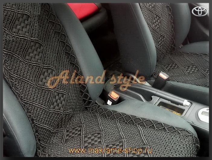Заказать накидки цвета 'мокрый асфальт' на сиденья автомобиля