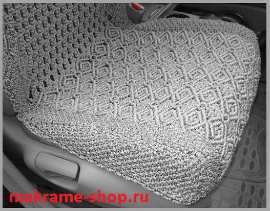 Боковая защита сиденья накидкой сбоку