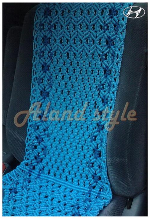 Оригинальный подарок водителю - голубые плетеные накидки
