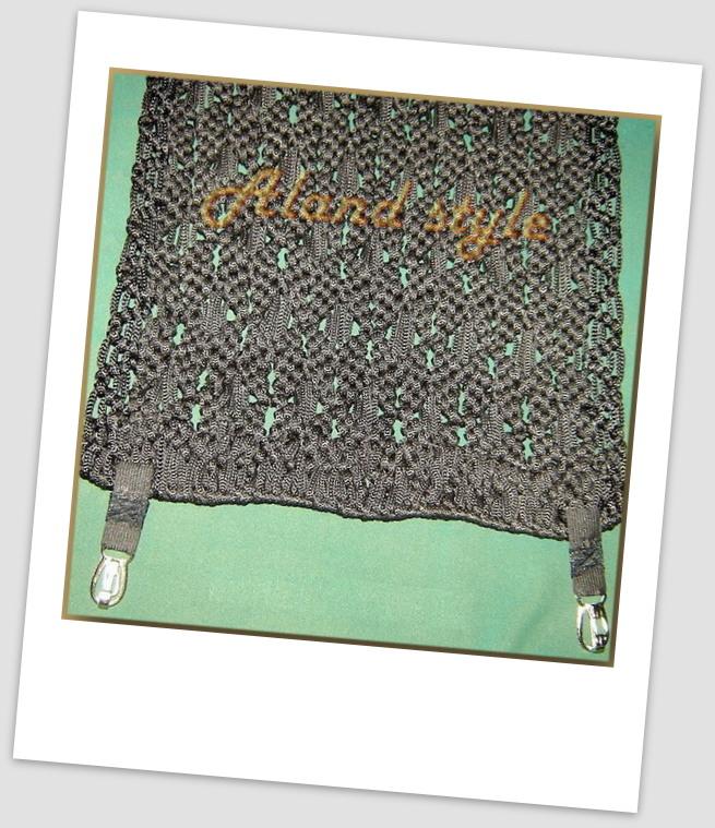 Крепление плетеной накидки карабинами