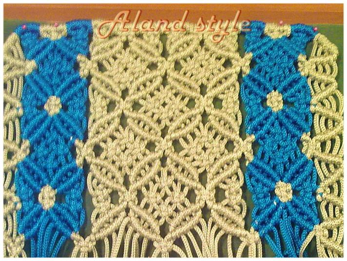 Плетение накидки-макраме на сиденье автомобиля