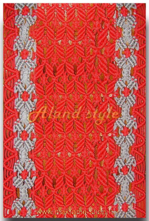 Узор красный плетеных накидок