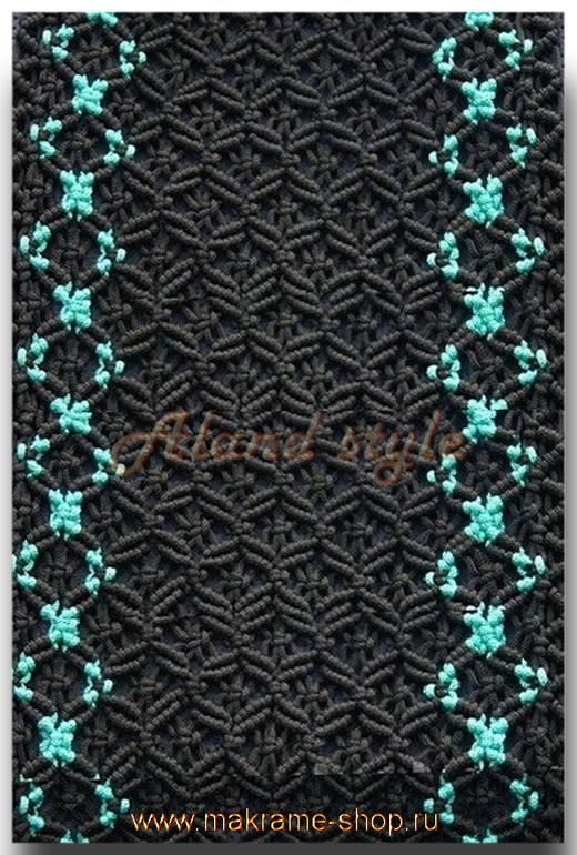 Узор черно-зеленых плетеных накидок
