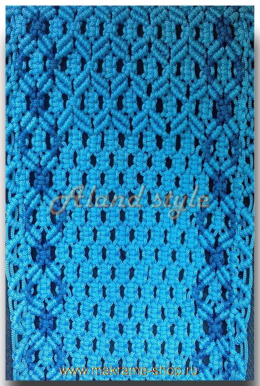 Узор голубых плетеных накидок