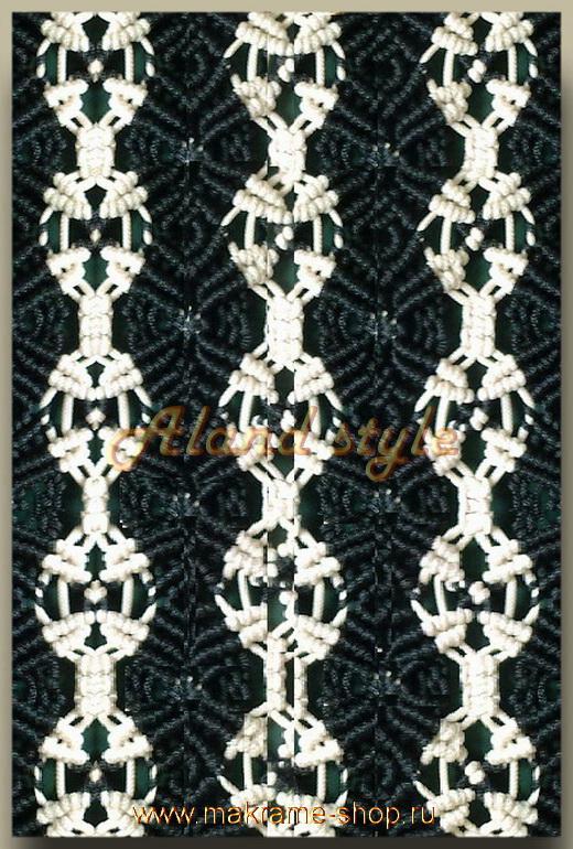 Плетение узора накидки-макраме