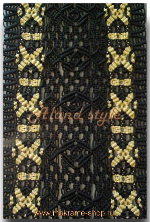 Узор черно-бронзовых плетеных накидок