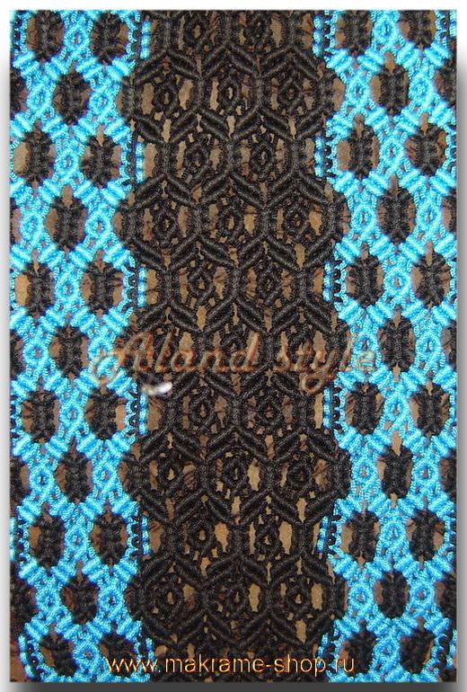 Узор черно-голубых плетеных накидок