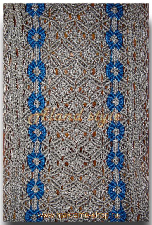 Узор серо-голубых плетеных накидок