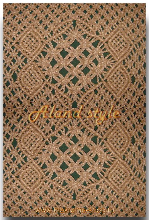 Узор плетеного авточехла цвета беж