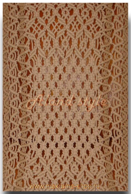 Узор бежевых плетеных накидок