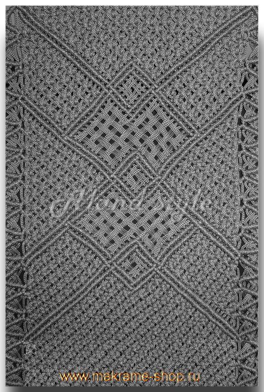 Узор серых накидок-макраме