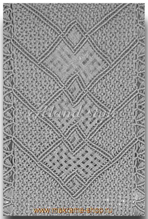 Узор плетеных накидок серого цвета