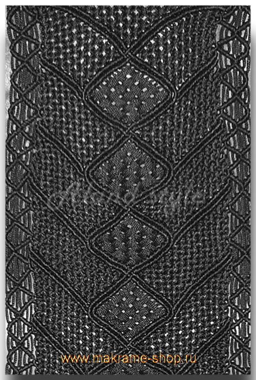Узор плетеных накидок цвета 'мокрый асфальт'
