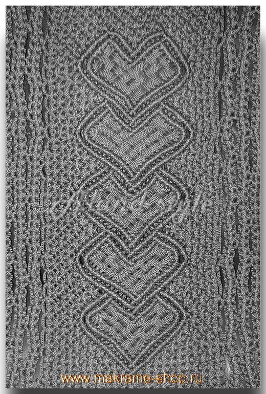 Узор серых плетеных накидок-макраме