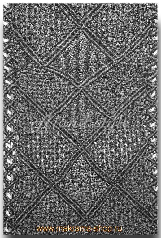 Узор черный плетеных накидок-макраме
