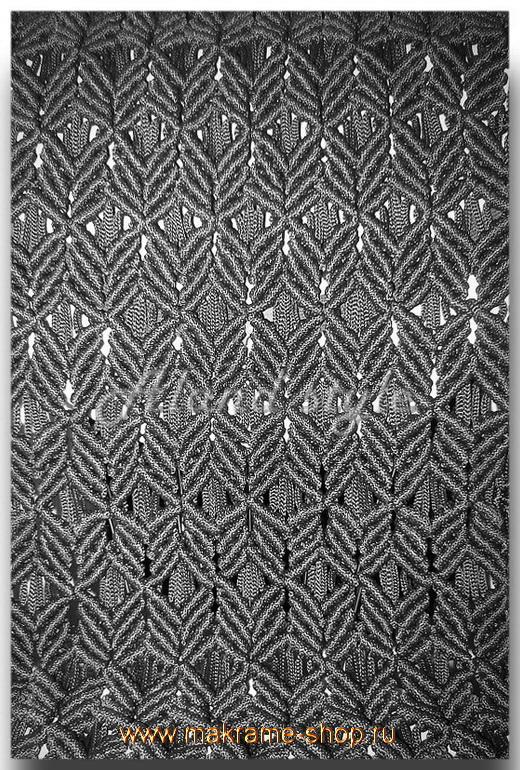 Узор плетеных накидок черного цвета