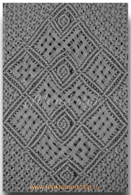 Узор серебристых плетеных накидок