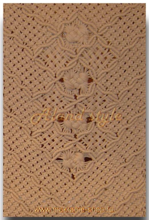 Узор плетеных накидок цвета беж