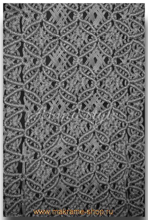 Узор серые круги накидок-макраме