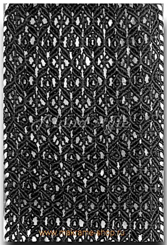 Узор плетеных черных накидок