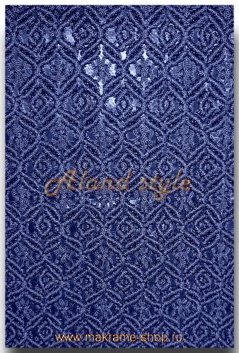 Узор синих  плетеных накидок