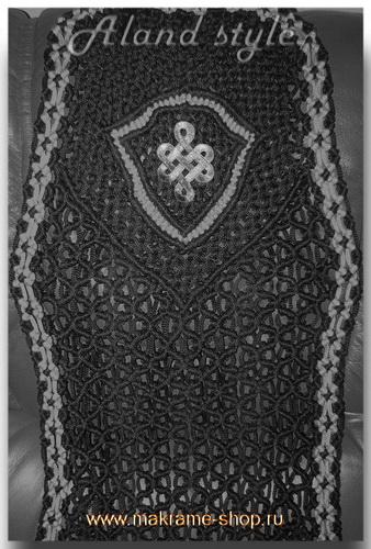 Узор плетеных накидок со щитом