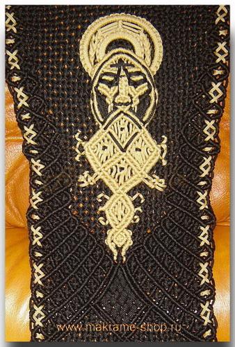 Узор плетеных накидок с эмблемой Велес