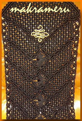 Узор плетеных накидок с вензелем