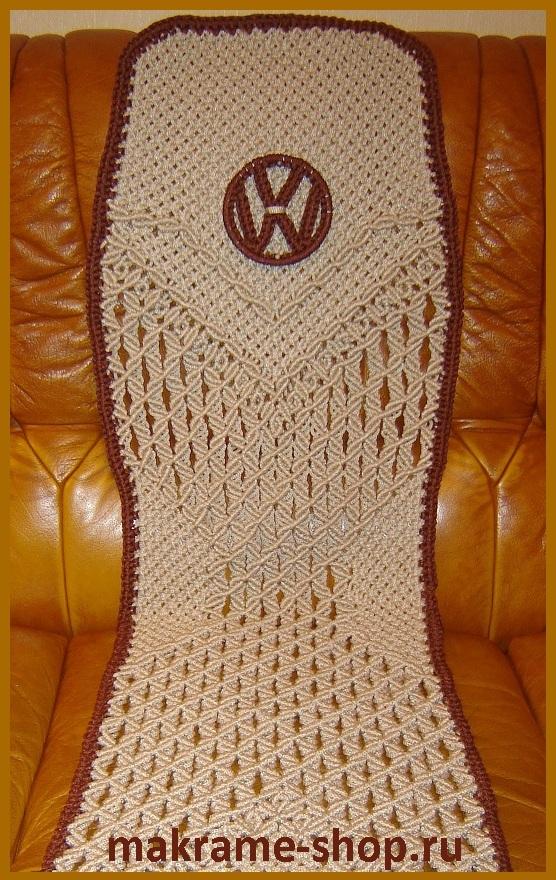 Дизайн бежевых накидок с эмблемой Volkswagen