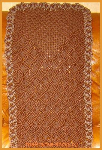Плетеная  коричневая накидка