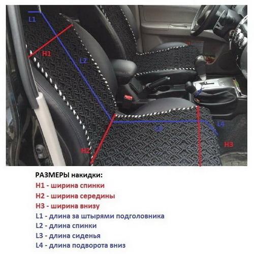 Замер кресла для плетения накидки