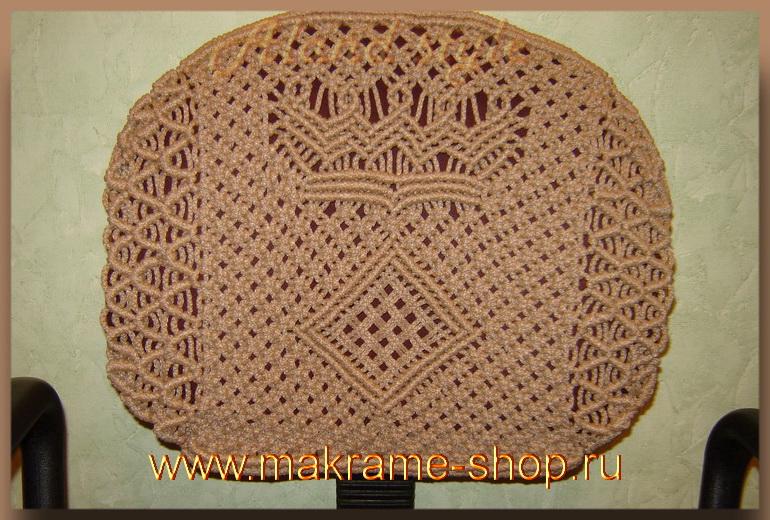 Плетеный коврик для спинки