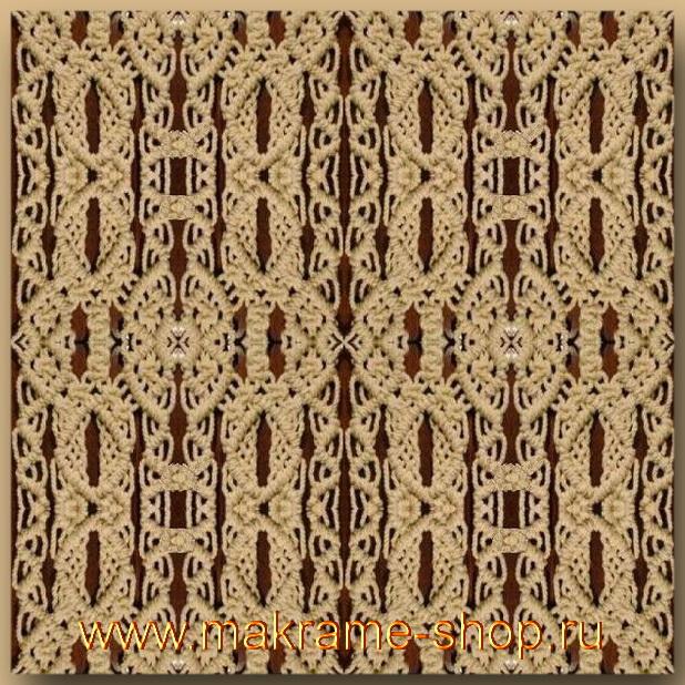 Узор макраме для коврика 10