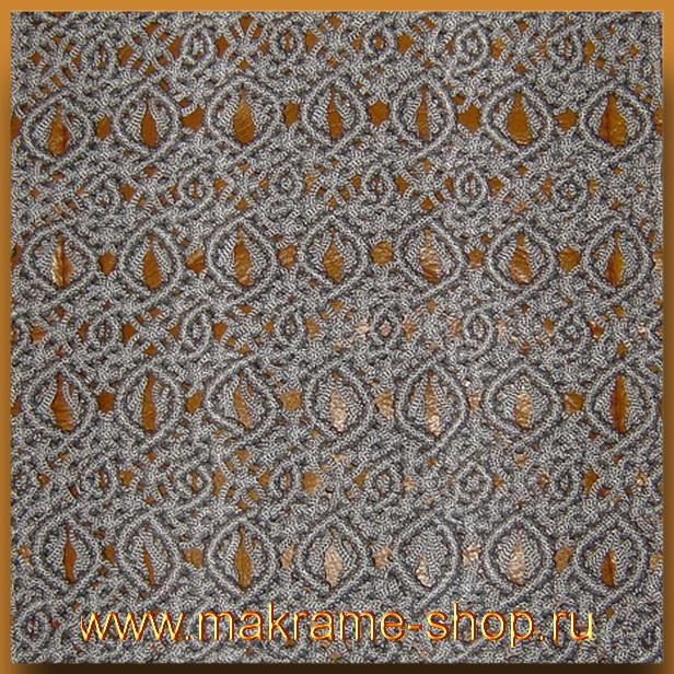 Узор макраме для коврика 17
