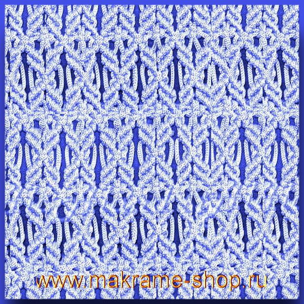 Узор макраме для коврика 18
