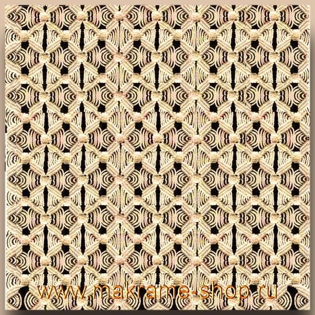 Узор макраме для коврика 07