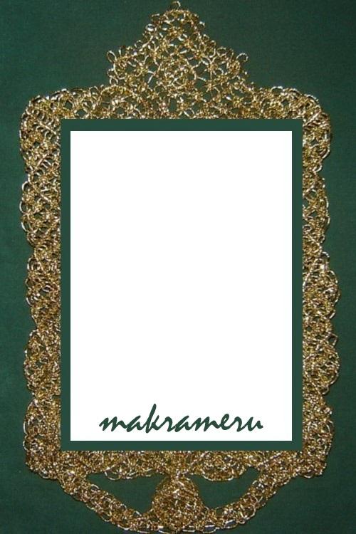 Рамка-макраме для иконы (золотистая резинка)