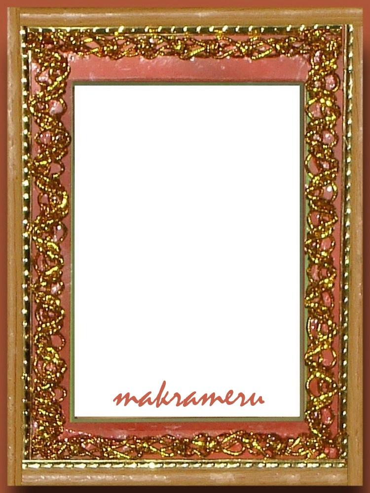 Рамка-макраме для иконы (золотистый шнур)
