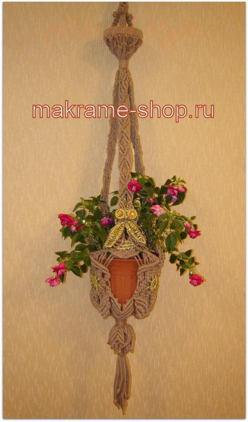Кашпо-макраме Пчелка