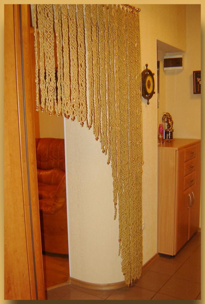 Заказать плетеную штору из кожи