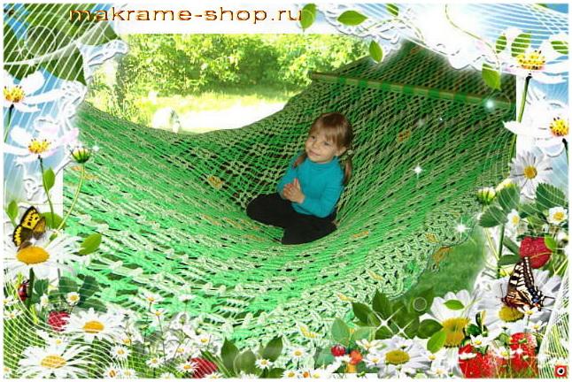 Элитный детский гамак-макраме для детей