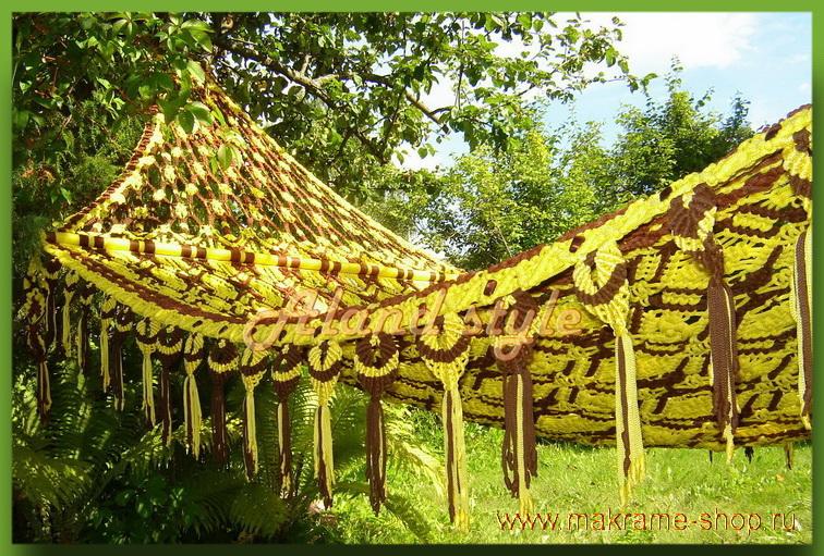 Гамак-макраме - достойное украшение дома, бассейна, зимего сада.