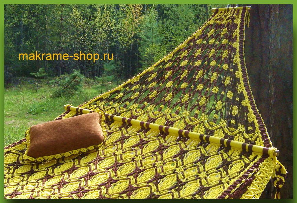 Уникальный узор гамака-макраме