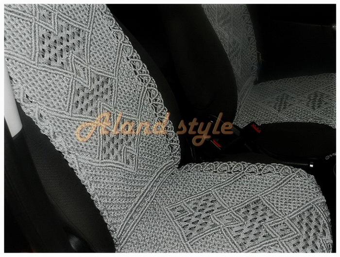 Серые плетеные накидки на сиденья автомобиля