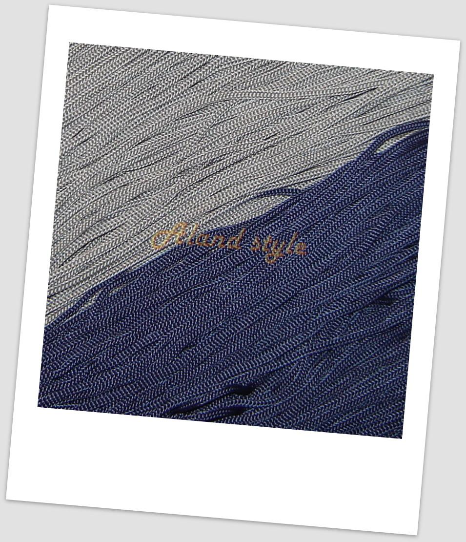 Шнуры для макраме серые и синие